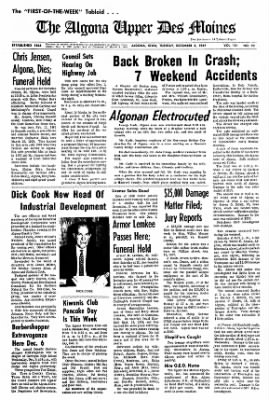The Algona Upper Des Moines from Algona, Iowa on December 5, 1967 · Page 1
