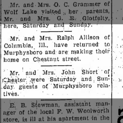 The Allisons return from Columbia