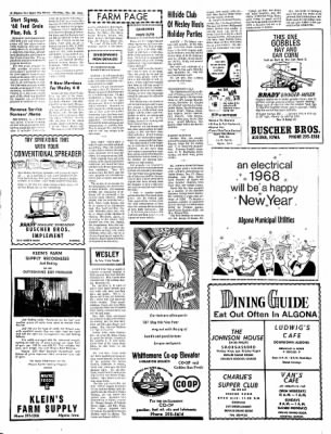 The Algona Upper Des Moines from Algona, Iowa on December 28, 1967 · Page 6