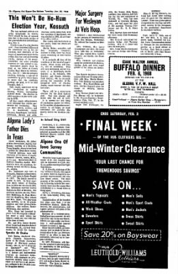 The Algona Upper Des Moines from Algona, Iowa on January 30, 1968 · Page 16