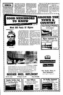 The Algona Upper Des Moines from Algona, Iowa on February 27, 1968 · Page 8