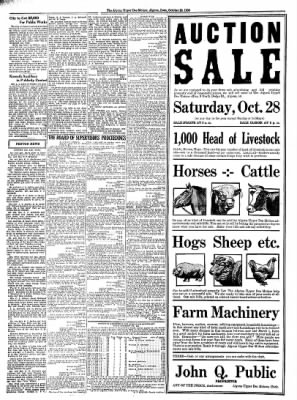 The Algona Upper Des Moines from Algona, Iowa on October 26, 1933 · Page 8