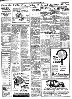 The Algona Upper Des Moines from Algona, Iowa on November 2, 1933 · Page 8