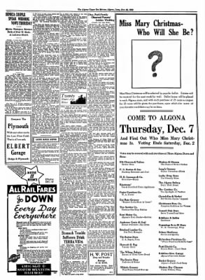 The Algona Upper Des Moines from Algona, Iowa on November 30, 1933 · Page 7