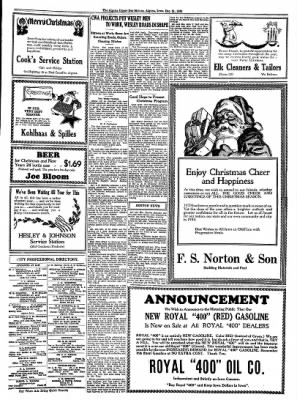The Algona Upper Des Moines from Algona, Iowa on December 25, 1933 · Page 9