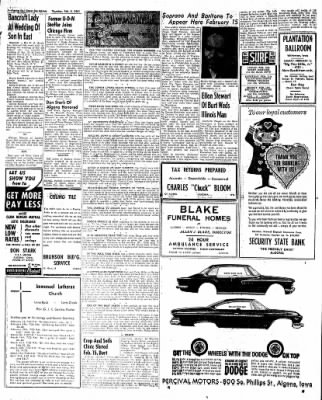 The Algona Upper Des Moines from Algona, Iowa on February 9, 1961 · Page 5
