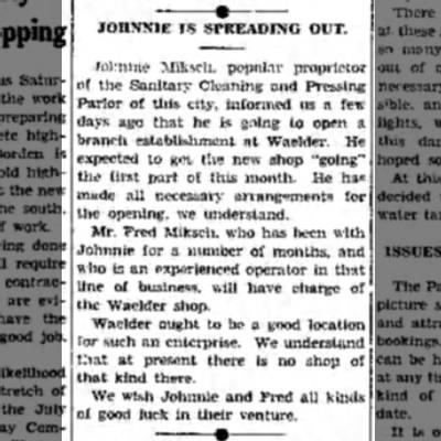 - JOHNNIE IS SPREADING OUT. Johnnie Mihsch....