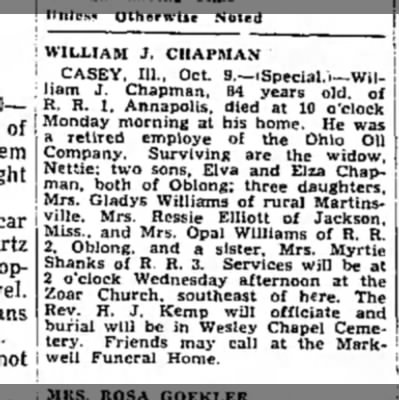 Chapman William J_Obit Oct 10_1961 -