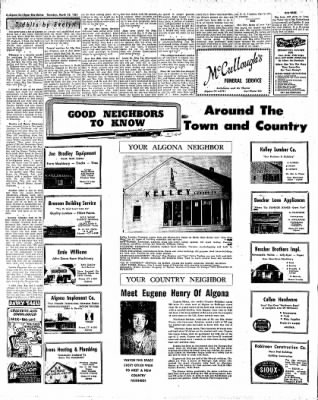 The Algona Upper Des Moines from Algona, Iowa on March 16, 1961 · Page 15