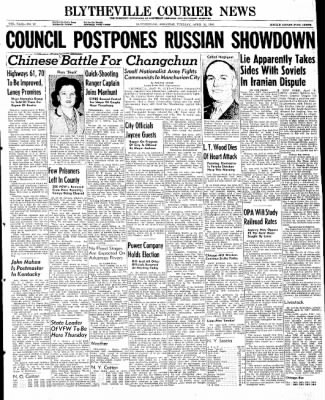 The Courier News from Blytheville, Arkansas on April 16, 1946 · Page 1