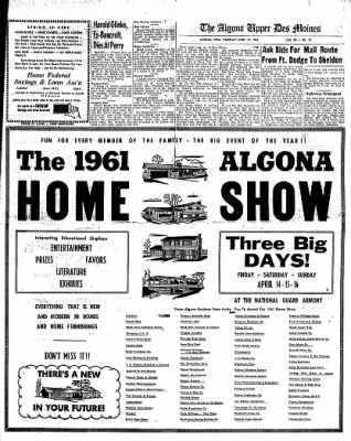 The Algona Upper Des Moines from Algona, Iowa on April 13, 1961 · Page 15