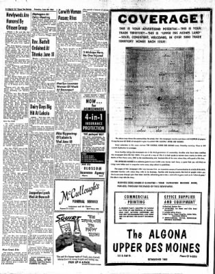 The Algona Upper Des Moines from Algona, Iowa on June 29, 1961 · Page 12