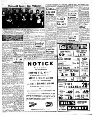The Algona Upper Des Moines from Algona, Iowa on July 20, 1961 · Page 5