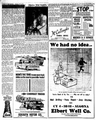 The Algona Upper Des Moines from Algona, Iowa on July 20, 1961 · Page 12