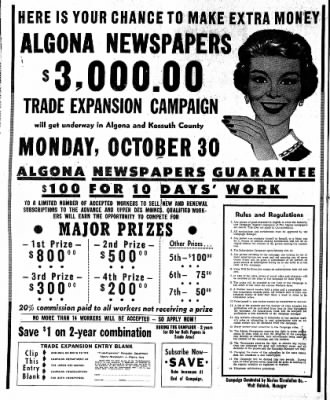 The Algona Upper Des Moines from Algona, Iowa on October 26, 1961 · Page 22