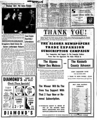 The Algona Upper Des Moines from Algona, Iowa on November 16, 1961 · Page 18