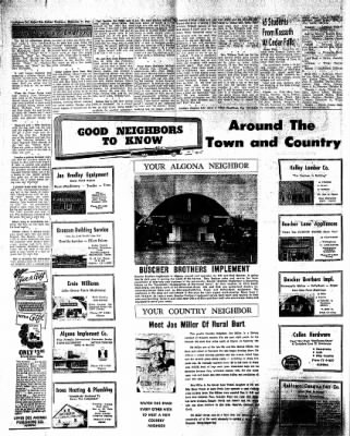 The Algona Upper Des Moines from Algona, Iowa on December 7, 1961 · Page 12