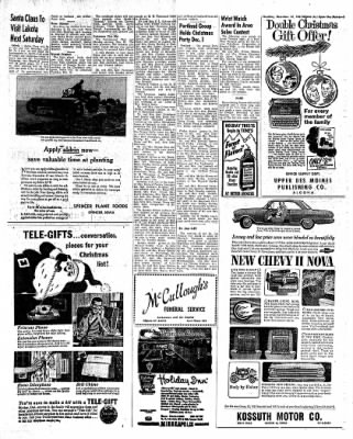 The Algona Upper Des Moines from Algona, Iowa on December 14, 1961 · Page 23