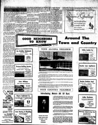 The Algona Upper Des Moines from Algona, Iowa on December 21, 1961 · Page 20