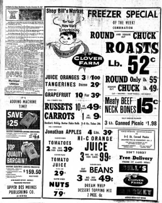 The Algona Upper Des Moines from Algona, Iowa on December 28, 1961 · Page 6