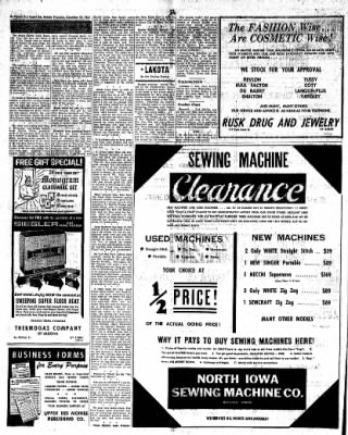 The Algona Upper Des Moines from Algona, Iowa on December 28, 1961 · Page 16