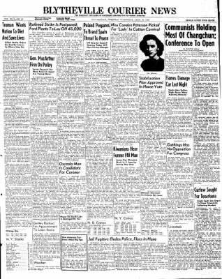 The Courier News from Blytheville, Arkansas on April 17, 1946 · Page 1