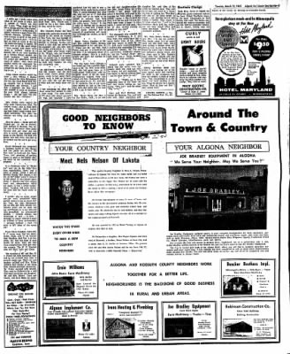 The Algona Upper Des Moines from Algona, Iowa on March 13, 1962 · Page 8
