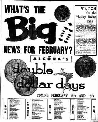 The Algona Upper Des Moines from Algona, Iowa on January 31, 1957 · Page 17