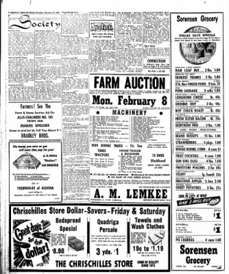 The Algona Upper Des Moines from Algona, Iowa on February 14, 1957 · Page 4