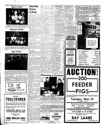 The Algona Upper Des Moines from Algona, Iowa on March 14, 1957 · Page 12