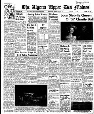 The Algona Upper Des Moines from Algona, Iowa on April 25, 1957 · Page 1
