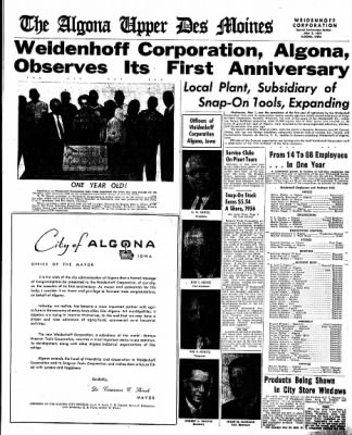 The Algona Upper Des Moines from Algona, Iowa on May 2, 1957 · Page 17