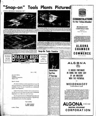 The Algona Upper Des Moines from Algona, Iowa on May 2, 1957 · Page 18