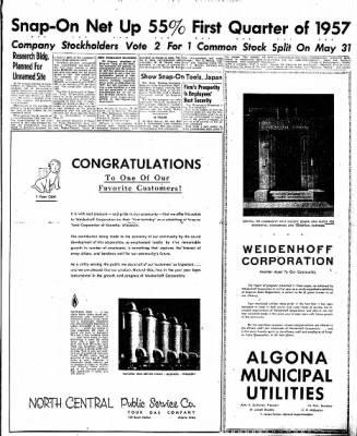 The Algona Upper Des Moines from Algona, Iowa on May 2, 1957 · Page 19