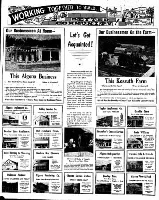 The Algona Upper Des Moines from Algona, Iowa on May 16, 1957 · Page 46