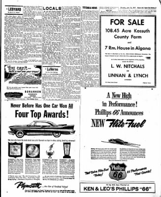 The Algona Upper Des Moines from Algona, Iowa on June 13, 1957 · Page 19