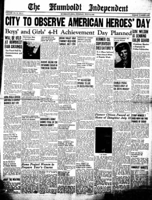 The Humboldt Independent from Humboldt, Iowa on July 14, 1942 · Page 1