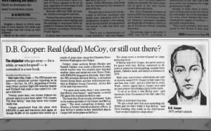 Some suspect Richard McCoy of being D.B. Cooper