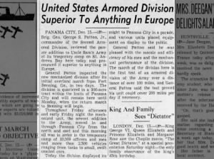 Brigadier General George Patton calls his Second Armored Division