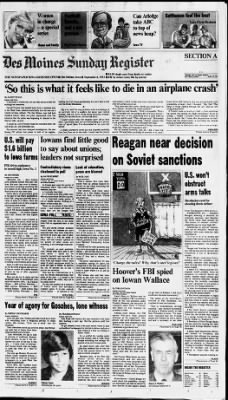 The Des Moines Register from Des Moines, Iowa on September 4, 1983 · Page 1