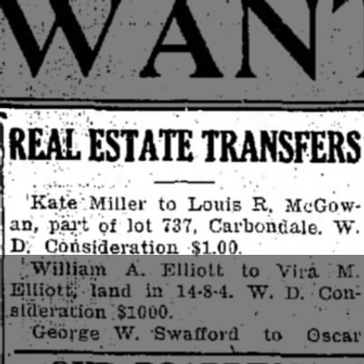Louis R McGowan real estate transfer -