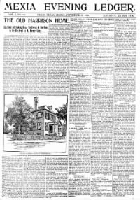 Sample Mexia Evening Ledger front page