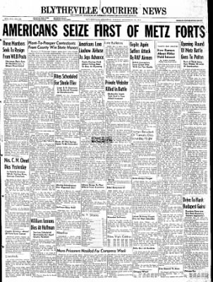 The Courier News from Blytheville, Arkansas on November 13, 1944 · Page 1