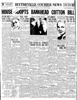 The Courier News from Blytheville, Arkansas on March 19, 1934 · Page 1