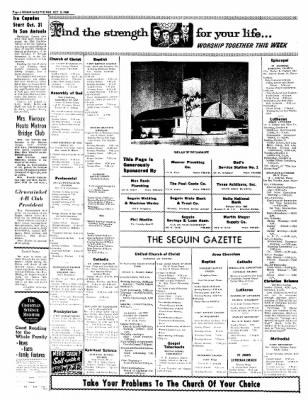 The Seguin Gazette-Enterprise from Seguin, Texas on October 5, 1960 · Page 14