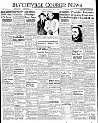 The Courier News from Blytheville, Arkansas on April 7, 1949 · Page 1