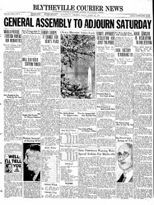 The Courier News from Blytheville, Arkansas on March 25, 1938 · Page 1