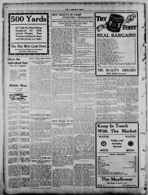 The Fairmount News from Fairmount, Indiana on July 28, 1921 · Page 8