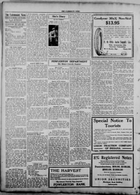 The Fairmount News from Fairmount, Indiana on August 4, 1921 · Page 4