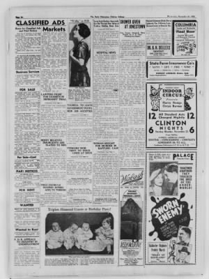 The Daily Clintonian from Clinton, Indiana on November 18, 1936 · Page 6